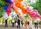 Цветной дым для свадьбы в Хабаровске